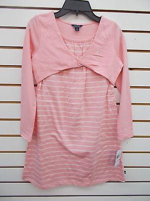 Girls Nautica $38.50 Pink w/ White Stripes Dress Size 7 - 12
