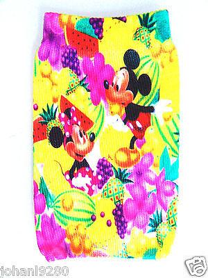 Mickey Minnie Mouse elastisch gsm-,  mp 3/4, ... - houder / hoesje 7 x 11 cm