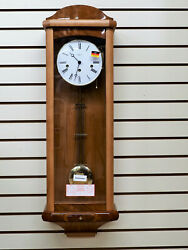 NEW HERMLE KEY WOUND SOLID LIGHT CHERRY, 8 DAY, WESTMINSTER CHIME WALL CLOCK
