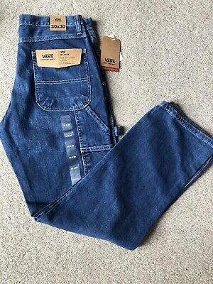 Vans Off The Wall V96 Relaxed Carpenter Jeans Straight Leg 30 X 30