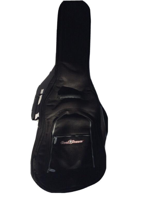Road Runner Guitar Padded Gig Black Guitar Travel Bag Case Backpack
