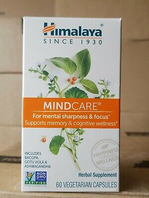 Himalaya MindCare For Mental Sharpness & Focus 60 Vegetarian Caps - Exp Jun 2021