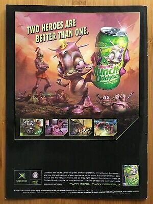 Oddworld: Munch's Oddysee Xbox 2001 Vintage Print Ad/Poster UK Promo Art Odyssey
