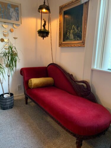 Exquisite Antique Mahogany Fainting Couch