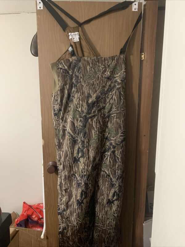 Vintage Columbia Mossy Oak Camouflage Hunting Overalls Men