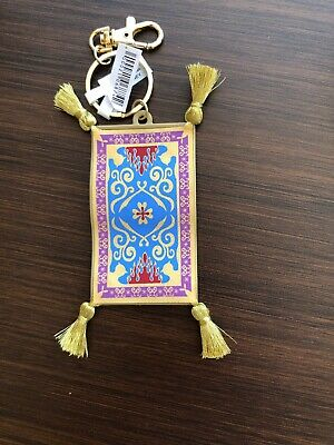 Disney Parks Aladdin Magic Carpet Keychain / Keyring NEW W TAGS Disneys Aladdin Magic Carpet