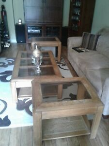 Coffee table & two end tables
