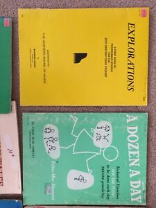 Voice and piano music books for sale-teacher downsizing