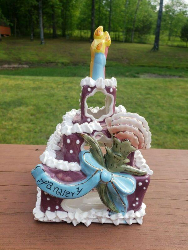 blue sky ceramics January cake