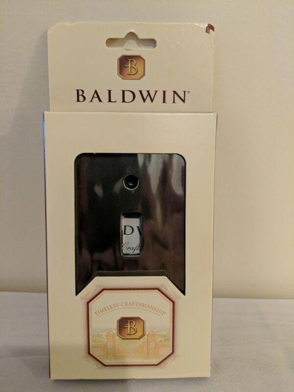 Baldwin Water-Polished Nickel Silver Single Toggle Light Switch Plate 4831.531
