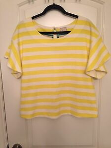 Anthropologie striped shirt size medium