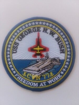 "USS GEORGE H W BUSH CVN 77 U.S.NAVY PATCH 4 "" AIRCRAFTCARRIER SAILOR SOLDIER USA"