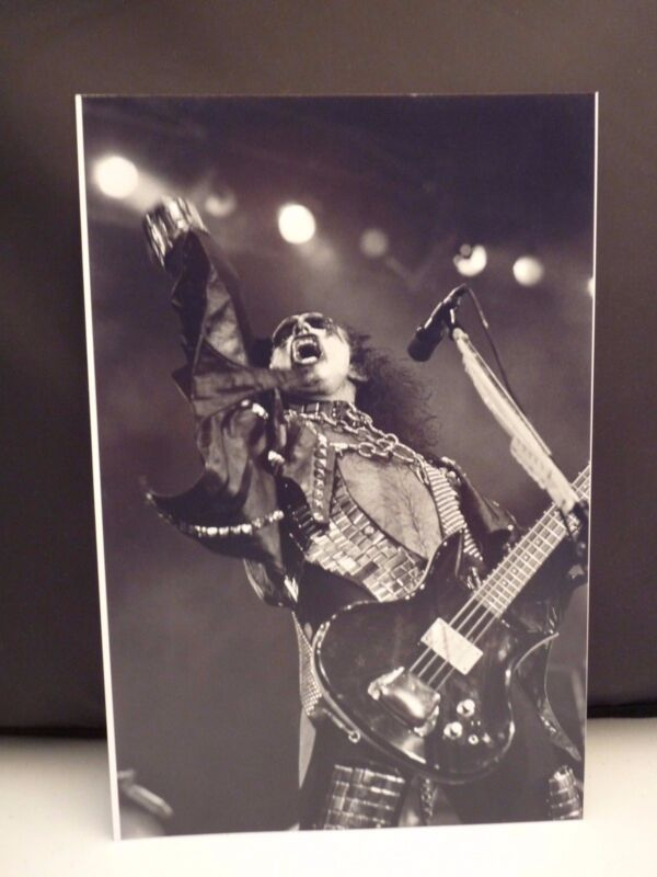 Kiss 1977 L.A. Forum Gene Simmons Live 8x12 Photo #6 From Original Negative