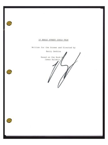 Barry Jenkins Signed Autographed IF BEALE STREET COULD TALK Movie Script COA