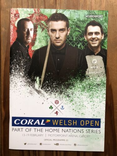 WELSH OPEN SNOOKER 2017 PROGRAMME. NEW and UNUSED. L@@K