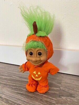 Vintage Russ Halloween 4 1/2 Inch Complete Pumpkin Costume Troll Doll