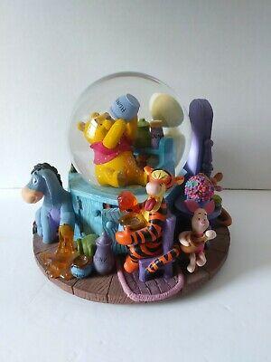 Disney Winnie the Pooh Honey Pot Tigger Eeyore Musical Snow Globe