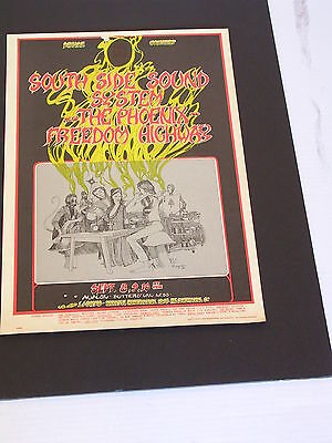 FD080 SOUTH SIDE SOUND FREEDOM HIGHWAY Psychedelic Avalon Poster by GREG IRONS