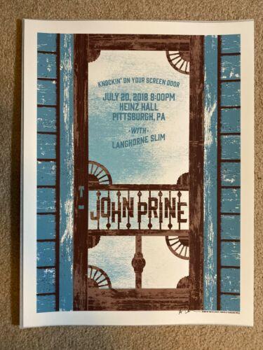 John Prine Poster Heinz Hall Pittsburgh, PA 7/20/18 RARE