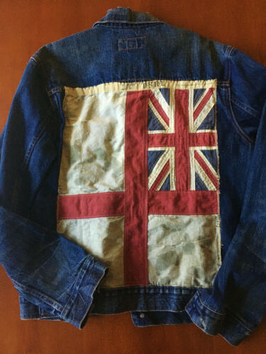Ralph Lauren trucker union jack united kingdom flag jacket