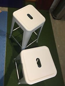 White bar stools metal Thirroul Wollongong Area Preview
