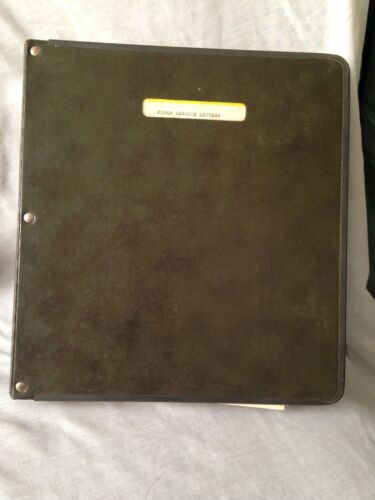 Vintage  PIPER AIR CRAFT AIRPLANE Service Letters Binder 50's & 60's. Over 300