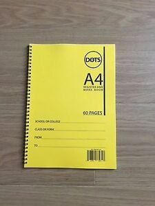 School Class Teacher Attendance Register, Mark Book, 60 Pages, 50 Names, Yellow