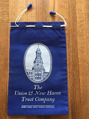 VINTAGE THE UNION & NEW HAVEN TRUST COMPANY NEW HAVEN CT. DEPOSIT/MONEY BAG Union Trust Company