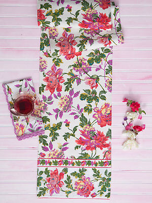 April Cornell Table Runner Greta's Garden Collection NWT Cotton Kitchen -