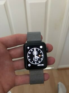 Series 2 Apple Watch ~ W/ Stainless steel band Good Condition