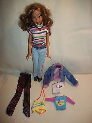 2005 Barbie My Scene Madison Doll With Rooted Lashes & Clothes Outfits Boots