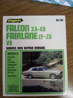 Ford Falcon XA-XB Fairlane ZF-ZG V8 workshop service manual Maylands Bayswater Area Preview