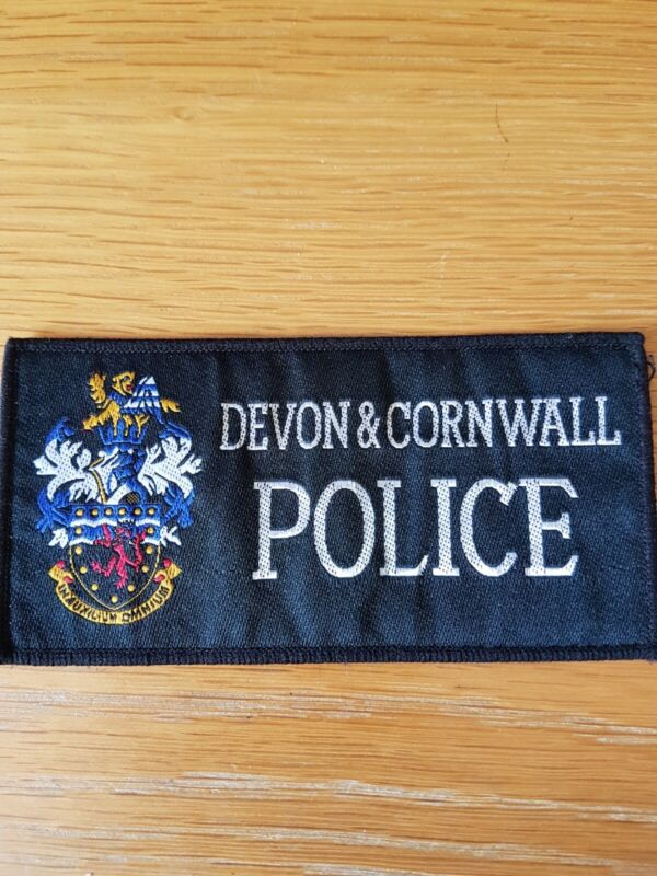 EX DEVON AND CORNWALL OBSOLETE CONSTABULARY PATCH
