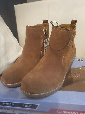 Womens Khombu All Season Wedge Boots chestnut Size Uk 4