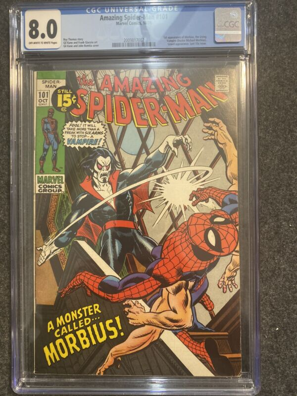 Amazing Spider-Man #101 CGC 8.0 First Appearance Of Morbius