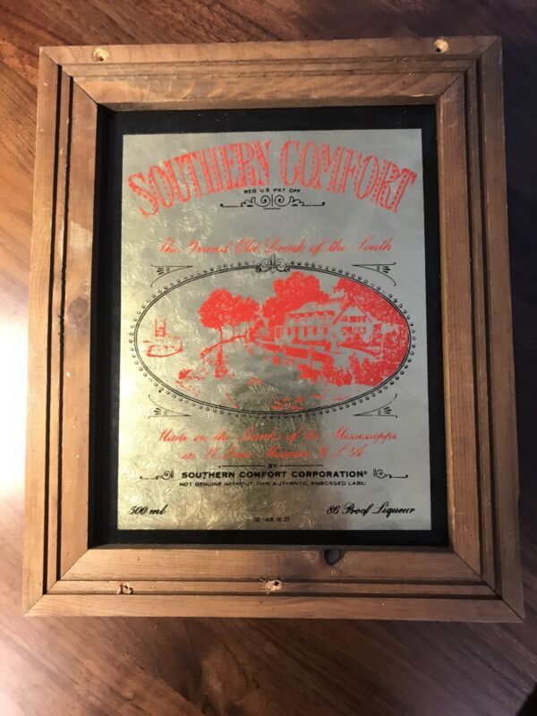 Southern Comfort Gold Sign Collectible