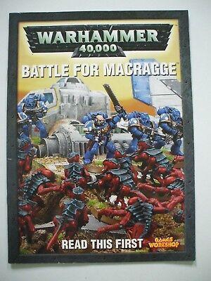 Warhammer 40,000 (40000 40k) Battle for Macragge 4th (fourth) edition Rulebook
