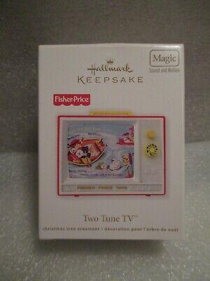 NEW 2012 Hallmark Keepsake Ornament Fisher Price Vintage Two Tune TV Sound Motin