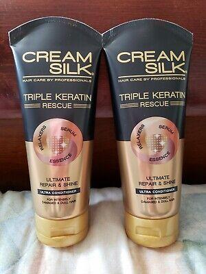 2X CreamSilk Conditioner Triple Keratin Rescue Ultimate Repair  & Shine (Shine Conditioner)