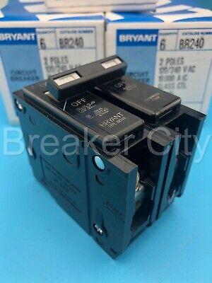 Bryant Westinghouse Br240 2 Pole 40 Amp Type Br Circuit Breaker 120240v New