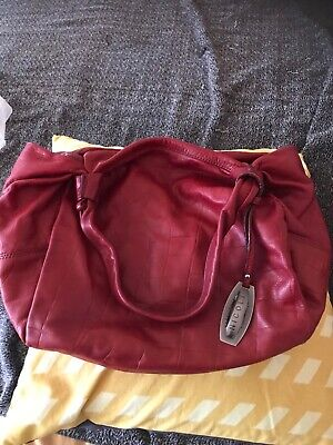 Nicoli Italy red gorgeous soft many pockets bag barely used