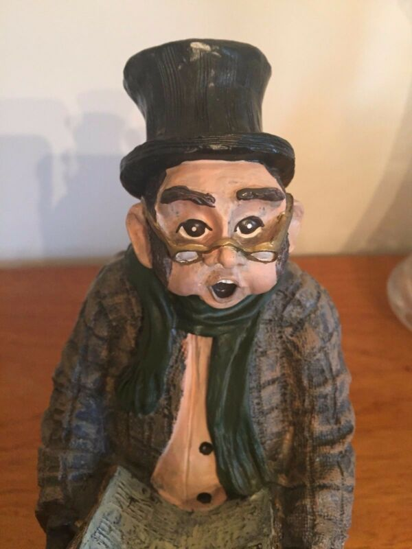 Resin Caroler - Man with Top Hat - To Benefit the ASPCA