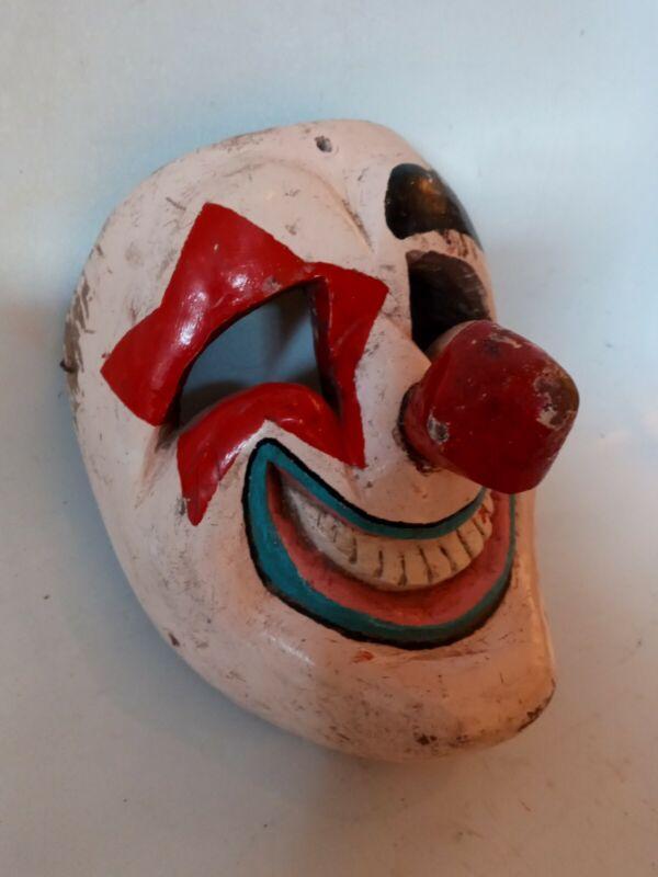 MAYAN FOLK ART VINTAGE GUATEMALAN DANCE MASK