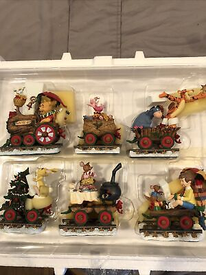 Disney Winnie The Pooh Christmas Train (Danbury Mint) Boxed set of 6