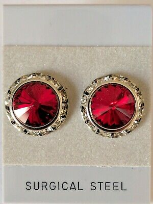 48290638b SIAM PIERCED EARRINGS go with horse show number magnets Swarovski Crystals