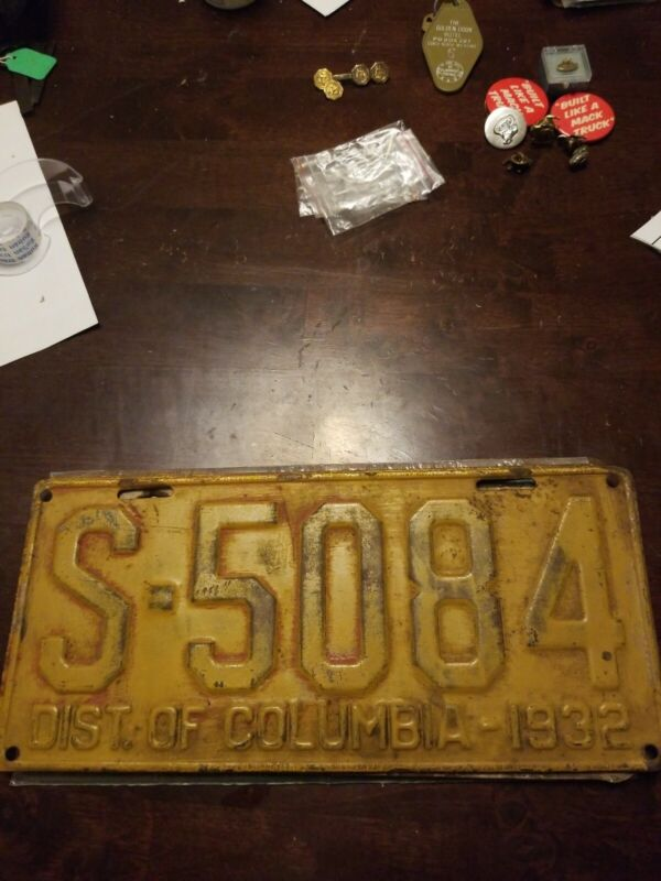 1932 Washington District of Columbia  DC License plate