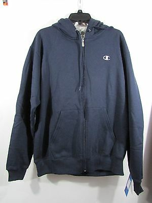 Champion Hoodie sweatshirt Eco Fleece Mens Size XL Full Zip nwt Jacket