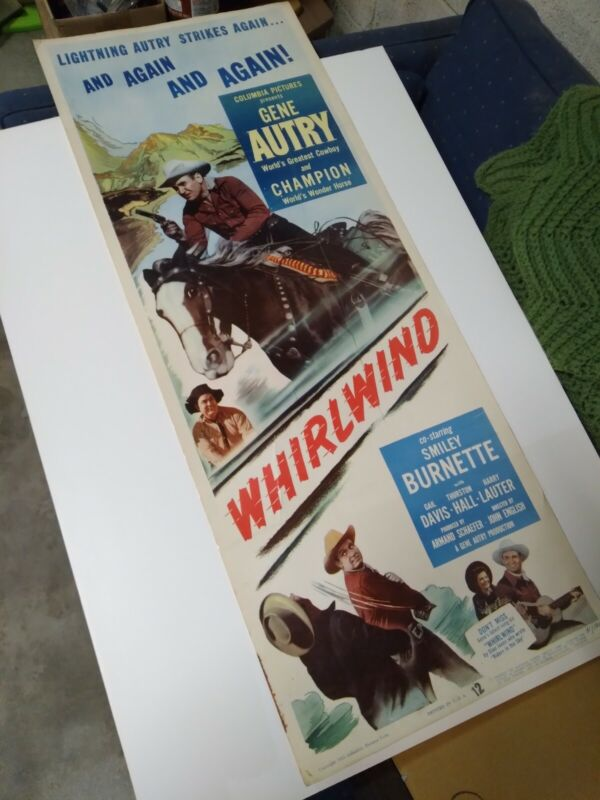 7 GENE AUTRY VINTAGE THEATER POSTERS--LARGE--ORIGINAL