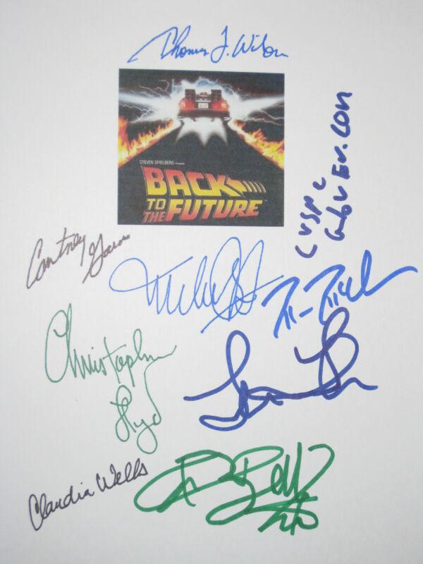 Michael J Fox Back To The Future Signed Film Script X9 Lloyd Thompson reprint