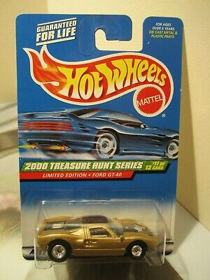 Hot Wheels Treasure Hunts Series 2000 Gold Ford GT-40 real riders